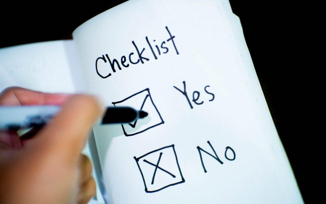 Ditch the Checklist